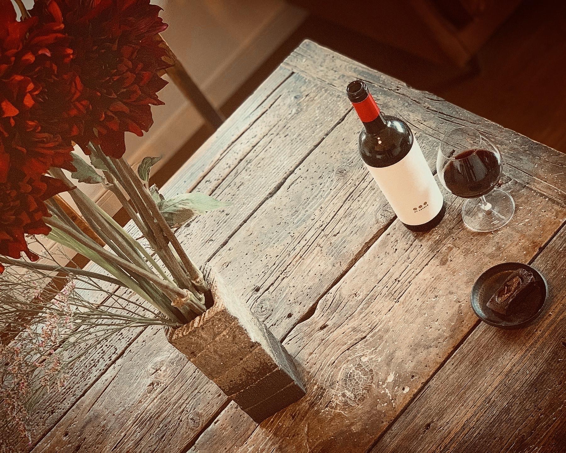 花とスウィーツとワインのマリアージュ